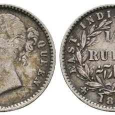 Monedas antiguas de Asia: INDIA BRITÁNICA. VICTORIA. 1/4 RUPIA. 1840.. Lote 121917827