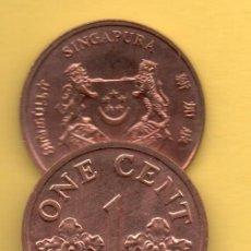 Monedas antiguas de Asia: SINGAPUR - 1 CENT 1989. Lote 125120415