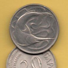 Monedas antiguas de Asia: SINGAPUR - 20 CENTS 1976 KM4. Lote 125154735