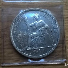 Monedas antiguas de Asia: INDOCHINA. EXCELENTE PIASTRA DE PLATA DE 1889. Lote 125188391