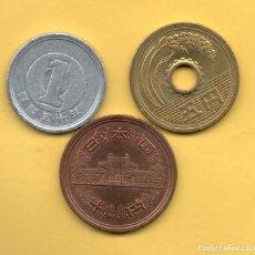 Monedas antiguas de Asia: JAPON 3 MONEDAS. Lote 125297539