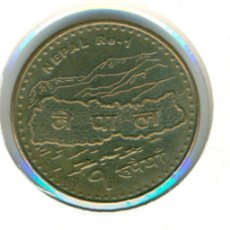 Monedas antiguas de Asia: NEPAL 1 RUPIA VS 2066 - 2009 ( MBC+ ). Lote 125916307