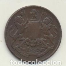 Monedas antiguas de Asia: INDIA. ( EAST INDIA COMPANY) AE30. 1/2 ANNA 1835. Lote 125942247