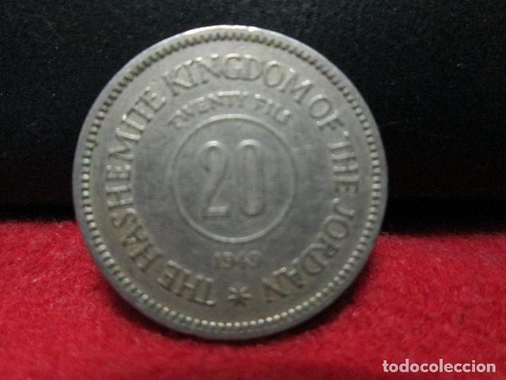 20 FILS 1949 JORDANIA AÑO ESCASO (Numismática - Extranjeras - Asia)