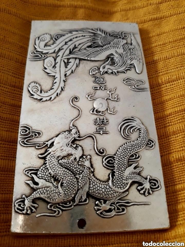 EXCLUSIVO Y ANTIGUO LINGOTE DE PLATA TIBETANA (Numismática - Extranjeras - Asia)