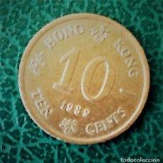 Monedas antiguas de Asia: HONG KONG- TEN CENTS 1989(COLONIA BRITÁNICA). Lote 129999159