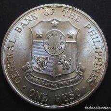 Monedas antiguas de Asia: FILIPINAS 1 PESO 1963 (REF. 2) -PLATA-. Lote 131366230