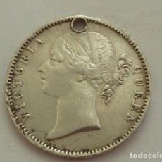 Monedas antiguas de Asia: MONEDA DE PLATA 1 RUPIA DE LA REINA VICTORIA DE 1840 IMPERIO BRITANICO, INDIA, VER BIEN, ESCASA. Lote 132607650