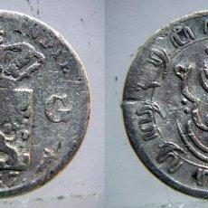Monedas antiguas de Asia: MONEDA DE PLATA DE 1/10 DE GULDEN DE LAS INDIAS HOLANDESAS AÑO 1858. Lote 133207070