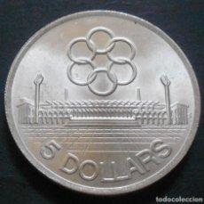Monedas antiguas de Asia: SINGAPUR 5 DÓLARES 1973 -PLATA-. Lote 134072650
