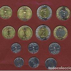 Monedas antiguas de Asia: ARABIA SAUDI / ARABIA SAUDITA : 1 Y 2 RIYALS + 1- 5-10-25-50 HALALAS 2016. SC.UNC. SERIE COMPLETA. Lote 182274908