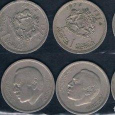 Monedas antiguas de Asia: 1 MONEDA DE TAILANDIA (BATH) Y 3 MONEDAS DE MARRUECOS. Lote 135169042