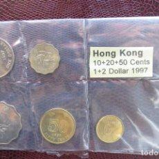 Monedas antiguas de Asia: HONG KONG SERIE 10 20 50 СENTS 1 2 $ 1997. Lote 135487178