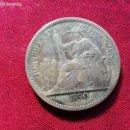 Monedas antiguas de Asia: INDOCHINA. PIASTRA DE PLATA DE 1890. KEY DATE. EXTREMADAMENTE RARA. ORIGINAL. Lote 135534902