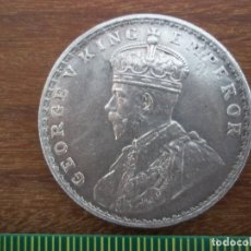 Monedas antiguas de Asia: ONE RUPEE INDIA 1920 PLATA 917 . Lote 135795234