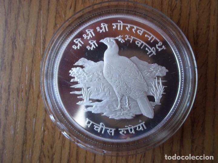 25 RUPEE NEPAL 1974 PROOF PLATA 925 TIRADA 11000 (Numismática - Extranjeras - Asia)