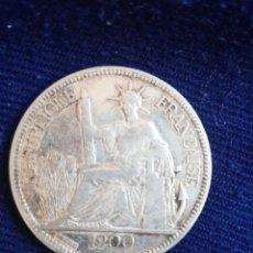 Monedas antiguas de Asia: UNA PIASTRA INDOCHINA FRANCESA 1900 A. Lote 136563130