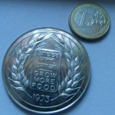 Monedas antiguas de Asia: MONEDA DE PLATA DE 20 RUPIAS DE LA INDIA AÑO 1973 SIN CIRCULAR. Lote 137239078