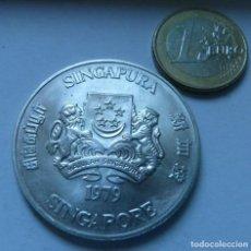 Monedas antiguas de Asia: MONEDA DE PLATA DE 10 DOLARES DE SINGAPUR AÑO 1979 SIN CIRCULAR. Lote 137240198