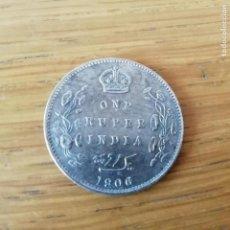 Monedas antiguas de Asia: INDIA BRITÁNICA. RUPIA DE PLATA DE 1906. Lote 138937314