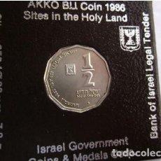 Monedas antiguas de Asia: ISRAEL . 1/2 SHEQUEL DE PLATA . AÑO 1986. Lote 140814406