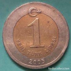 Monedas antiguas de Asia: TURQUÍA - 1 LIRA 2005 - MBC - CAT. Nº 739 - VISITA MIS OTROS LOTES Y AHORRA GASTOS DE ENVÍO. Lote 142604254