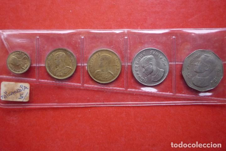TAILANDIA. SERIE COMPLETA DE 5 MONEDAS ANTIGUAS DIFERENTES (DÉCADA DE 1970) (Numismática - Extranjeras - Asia)