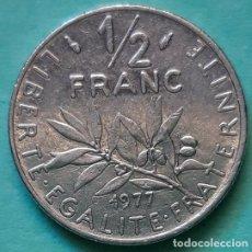 Monedas antiguas de Asia: FRANCIA - MEDIO FRANC 1977 - CAT. Nº 233.1 - VISITA MIS OTROS LOTES Y AHORRA GASTOS DE ENVÍO. Lote 142641870