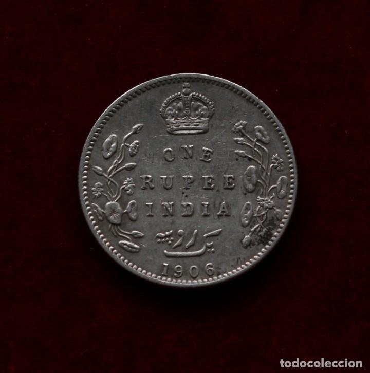 RUPIA 1906 PLATA INDIA (Numismática - Extranjeras - Asia)