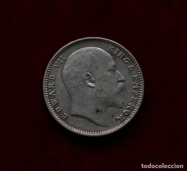 Monedas antiguas de Asia: RUPIA 1906 PLATA INDIA - Foto 2 - 142792350