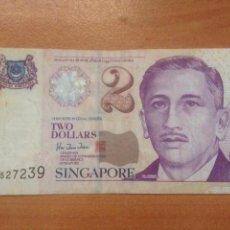 Monedas antiguas de Asia: TWO DOLLARS SINGAPORE. Lote 142828306