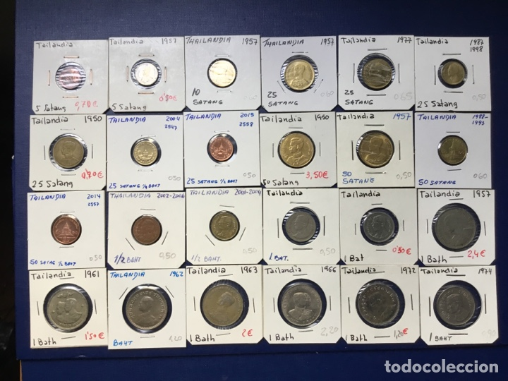 L-28 ) TAILANDIA,,40 MONEDAS TODAS DISTINTAS FECHAS Y TIPOS, EN MUY BUEN ESTADO Y NUEVAS (Numismática - Extranjeras - Asia)