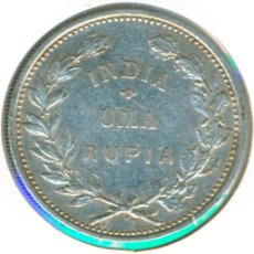 Monedas antiguas de Asia: INDIA - COLONIA PORTUGAL 1 RUPIA 1912 ( BC+ ) KM # 18 - PLATA. Lote 144787510