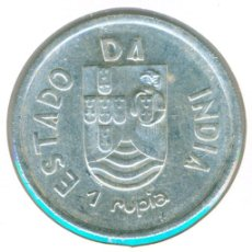 Monedas antiguas de Asia: INDIA - COLONIA PORTUGAL 1 RUPIA 1935 ( EBC- ) KM # 22 - PLATA. Lote 144787554