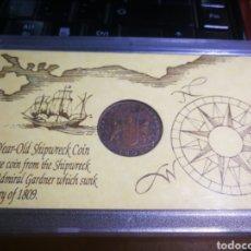 Monedas antiguas de Asia: MONEDA X CASH 1808 BARCO HUNDIDO EN 1809 ADMIRAL GARDNER. Lote 145550722