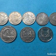 Monedas antiguas de Asia: 49,) SINGAPUR,,8 MONEDAS DE 10 Y 20 CENT,,TODAS DISTINTAS FECHAS Y TIPOS. Lote 115680004