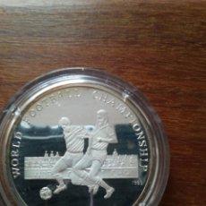 Monedas antiguas de Asia: 500 AFGANIS 1989 PROOF PLATA 999 WORLD FOOTBAL ITALY 1990 TIRADA 10 000. Lote 147718498