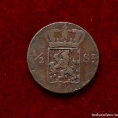 Monedas antiguas de Asia: 1/2 DE STUIVER 1823 INDIA HOLANDESA. Lote 147830074