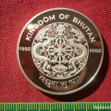 Monedas antiguas de Asia: 300 NGULTRUMS 31.47 GR, 925 PLATA, BARCELONA 1992 - TIRADA 20000 . Lote 148032154
