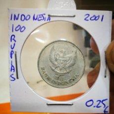 Monedas antiguas de Asia: MONEDA INDONESIA 100 RUPIAS 2001. Lote 148220658
