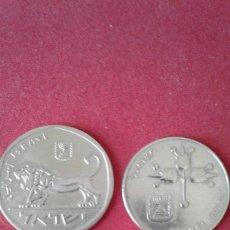 Monedas antiguas de Asia: DOS MONEDAS DE ISRAEL 5 LIROT Y 1 LIROT. Lote 150678090