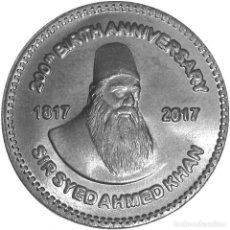 Monedas antiguas de Asia: PAQUISTAN / PAKISTAN 50 2017 SIR SYED AHMAD KHAN. Lote 182643912