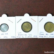 Monedas antiguas de Asia: LOTE 3 MONEDAS COREA DEL SUR - PRACTICAMENTE SC . Lote 152590362