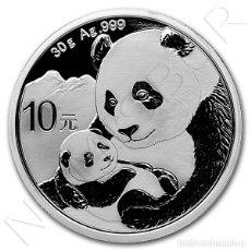 Monedas antiguas de Asia: CHINA 10 YUAN PLATA 2019 PANDA - OSO PANDA 30 GRAMOS 999. Lote 153701162