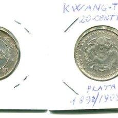 Monedas antiguas de Asia: KWANG TUNG 20 CENTAVOS 1890/1908. Lote 153944002