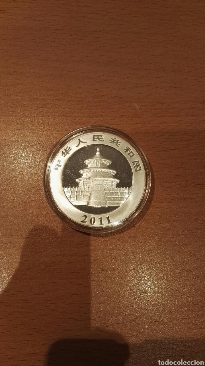 Monedas antiguas de Asia: 1 onza de plata, 10 Yuan China 2011 - Foto 2 - 154156214