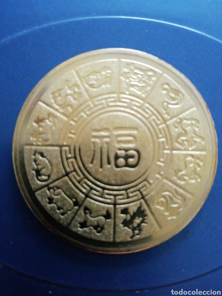 Monedas antiguas de Asia: Moneda horóscopo chino - Foto 2 - 154637580