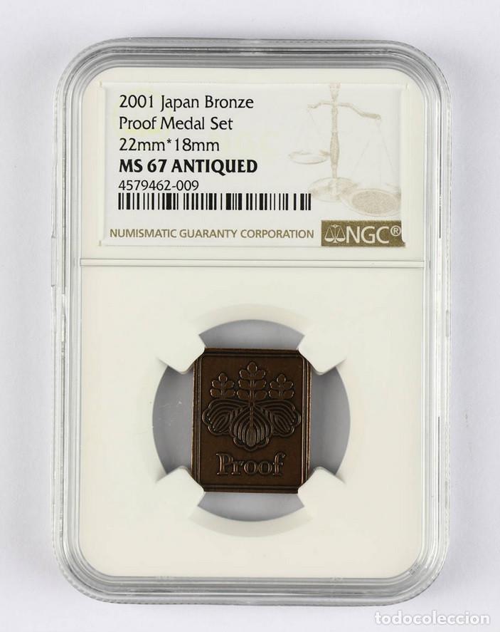 Monedas antiguas de Asia: 2001 Japón bronce Medalla de prueba Set 22mm*18mm NGC MS - Foto 2 - 155698782