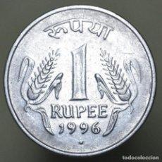 Monedas antiguas de Asia: 1 RUPIA INDIA 1996. Lote 156565410