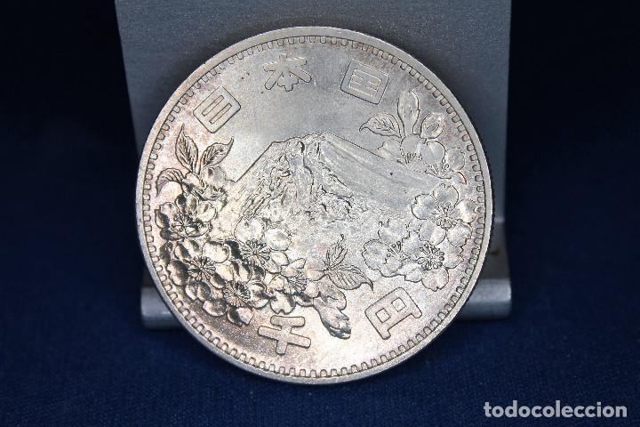 Monedas antiguas de Asia: Japón 1000 yenes, 39 (1964) XVIII Juegos Olímpicos de verano, Tokio 1964 - Foto 2 - 158471086